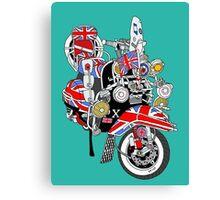 Union Jack Mods Bike Canvas Print