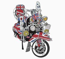 Union Jack Mods Bike Kids Tee