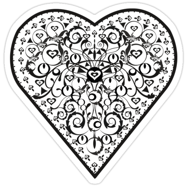 Ironwork heart black by venitakidwai1