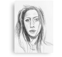 Pencil Sketch Canvas Print