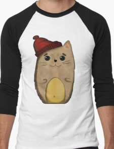Cat in the red cap Men's Baseball ¾ T-Shirt