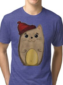 Cat in the red cap Tri-blend T-Shirt