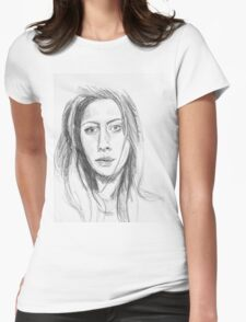 Pencil Sketch Womens Fitted T-Shirt