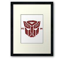 Legendary Autobots Framed Print