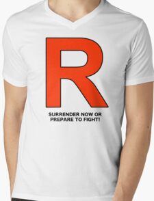 Team Rocket (Surrender Now or Prepare to Fight!) Mens V-Neck T-Shirt