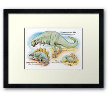 Tyrannosaurus, Stegosaurus & Moschops Framed Print