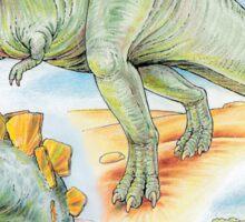 Tyrannosaurus, Stegosaurus & Moschops Sticker