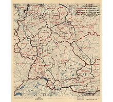 June 23 1945 World War II HQ Twelfth Army Group situation map Photographic Print