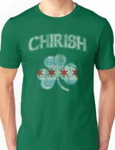 Chirish Flag of Chicago Shamrock Unisex T-Shirt