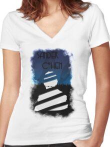 Sander cohen wrapped Women's Fitted V-Neck T-Shirt