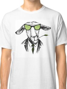 Hand Drawn Fashion Portrait of donkey Hipster  Classic T-Shirt