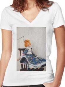 Peg Doll Women's Fitted V-Neck T-Shirt