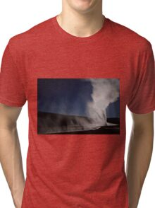 Old Faithful Full Moon Tri-blend T-Shirt