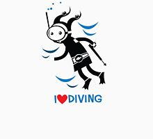 diver Womens Fitted T-Shirt
