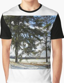 Snow And Two Trees Graphic T-Shirt