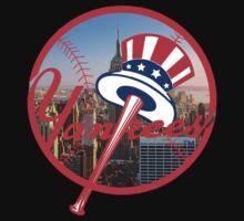 New York Yankees NYC Logo Kids Tee