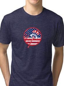 New York Yankees Flag Logo Tri-blend T-Shirt