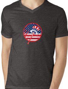 New York Yankees Flag Logo Mens V-Neck T-Shirt