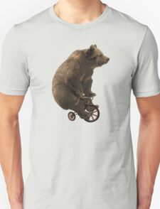 Black Bear Funny Bicycle Bear Quotes T-Shirt