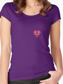 Folk Heart 3 Women's Fitted Scoop T-Shirt