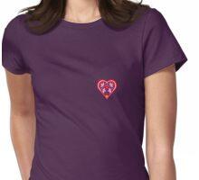 Folk Heart 3 Womens Fitted T-Shirt