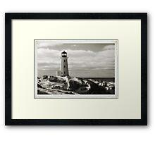 Lighthouse at Peggy's Cove Jan 22, 2016 Framed Print