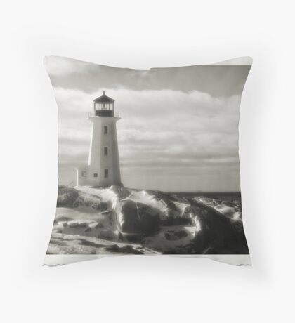Lighthouse at Peggy's Cove Jan 22, 2016 Throw Pillow