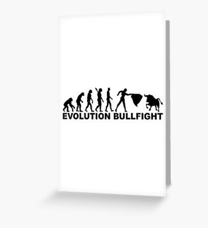 Evolution bullfight Greeting Card
