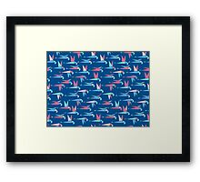 Flight - Blue Framed Print
