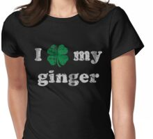 I Shamrock My Ginger St Patrick's Day Womens Fitted T-Shirt