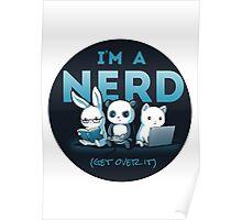 Cute - Nerd - Panda - Cat - Bunny  Poster