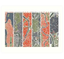 Six Cities map Art Print