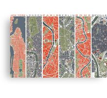 Six Cities map Canvas Print