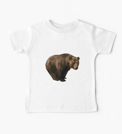 Low Poly Brown Bear Baby Tee