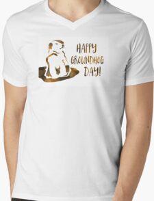 happy groundhog day Mens V-Neck T-Shirt