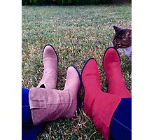 cowgirls, cats and country livin Photographic Print