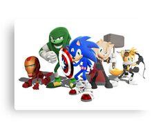 Sonic Avengers Metal Print