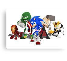 Sonic Avengers Canvas Print