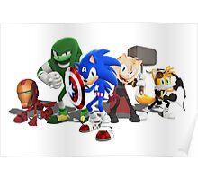 Sonic Avengers Poster