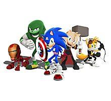 Sonic Avengers Photographic Print