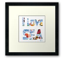 I love sea watercolor style Framed Print