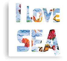 I love sea watercolor style Canvas Print