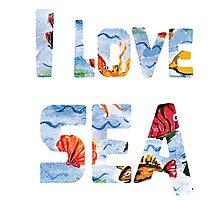 I love sea watercolor style Photographic Print