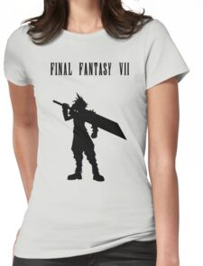 Cloud Strife Silhouette Minimal (Black) - Final Fantasy VII Womens Fitted T-Shirt