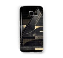 Composition of golden abstract geometry Samsung Galaxy Case/Skin