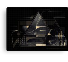 Composition of golden abstract geometry Canvas Print
