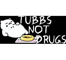 Tubbs Not Drugs - Neko Atsume (White) Photographic Print