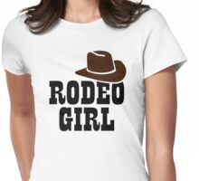 Rodeo girl Womens Fitted T-Shirt