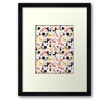 funny pattern lovers cats Framed Print