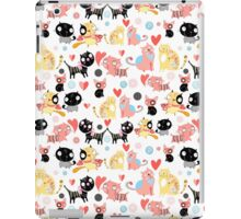 funny pattern lovers cats iPad Case/Skin